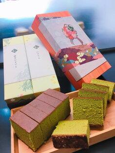 花須寺長崎蛋糕2入禮盒-原味+抹茶