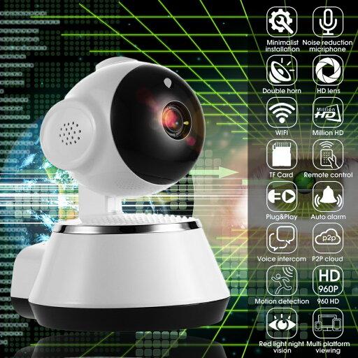 Wireless WiFi Baby Monitor Alarm Home Security IP Camera HD 720P Night Vision US Plug White 51517752ccdc4ab0558380d6e77adddf