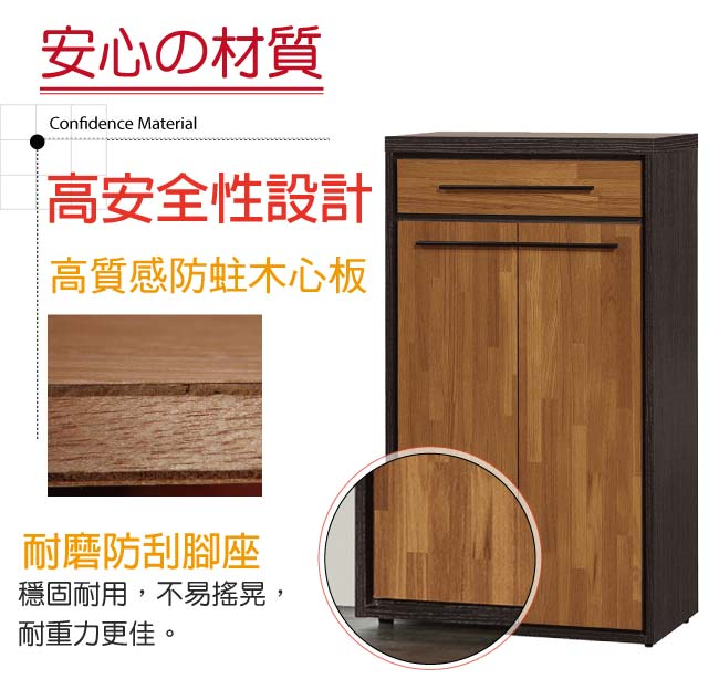 【綠家居】杜奧爾 時尚2尺二門鞋櫃/玄關櫃