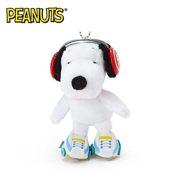 溜冰款【日本正版】史努比 造型玩偶 吊飾 絨毛玩偶 Snoopy PEANUTS - 583319