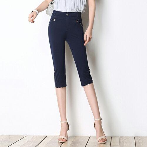 高腰彈力顯瘦直筒褲(3色27-35)【OREAD】 0