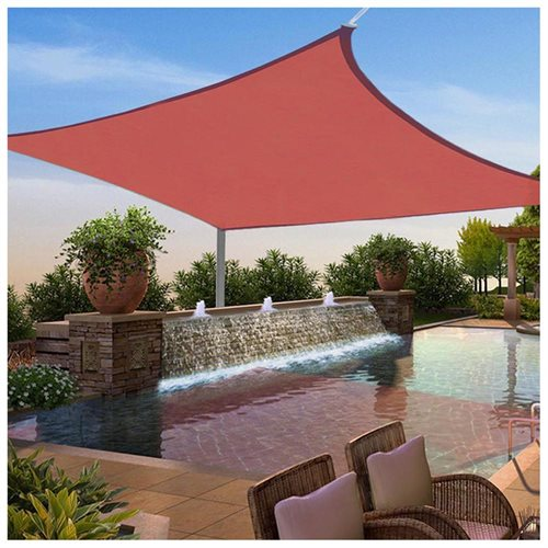 12x12 Ft Square Sun Shade Sail Uv Top Cover Outdoor Canopy Patio Lawn W Free