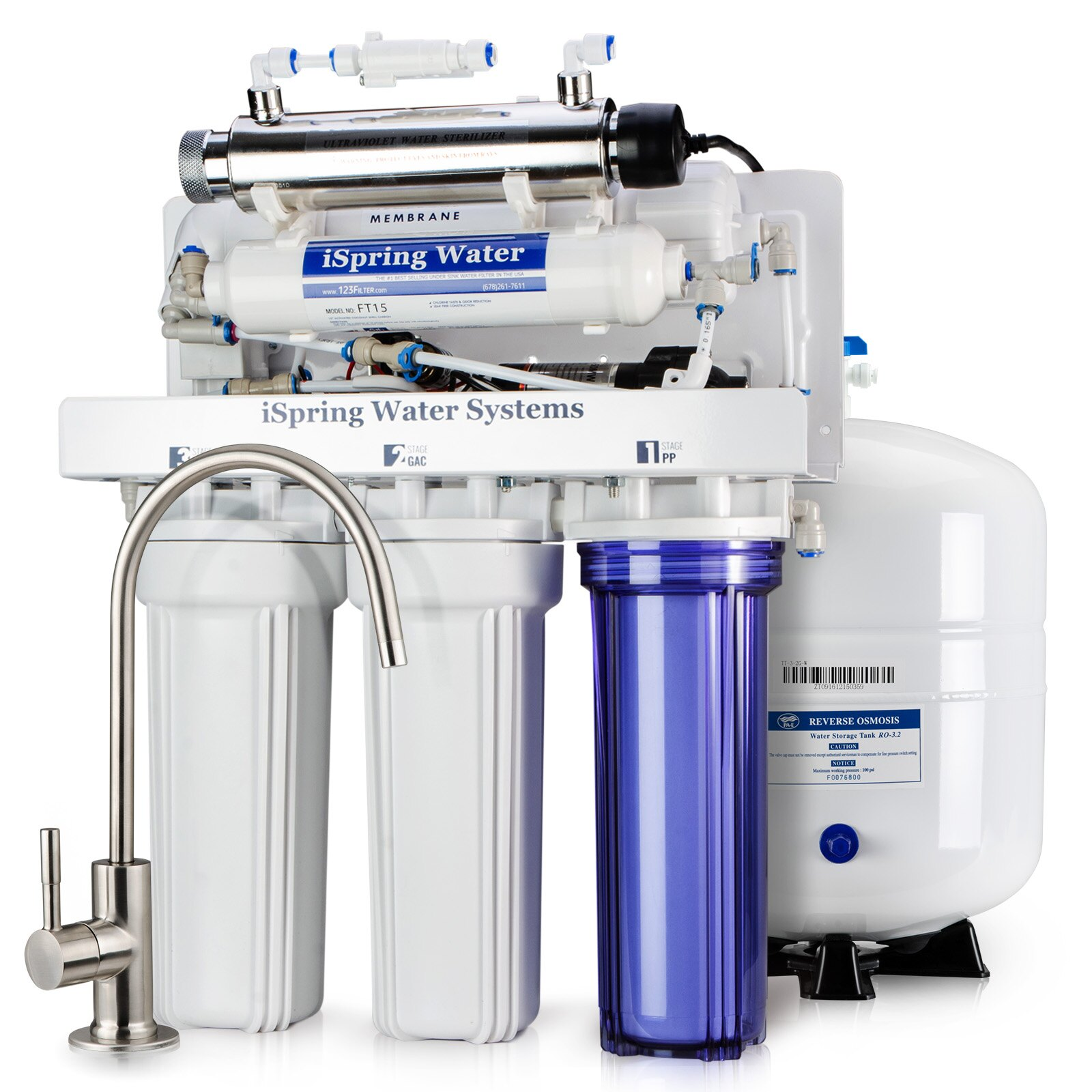 Ispring Water Systems 100gpd 6 Stage Reverse Osmosis Ro