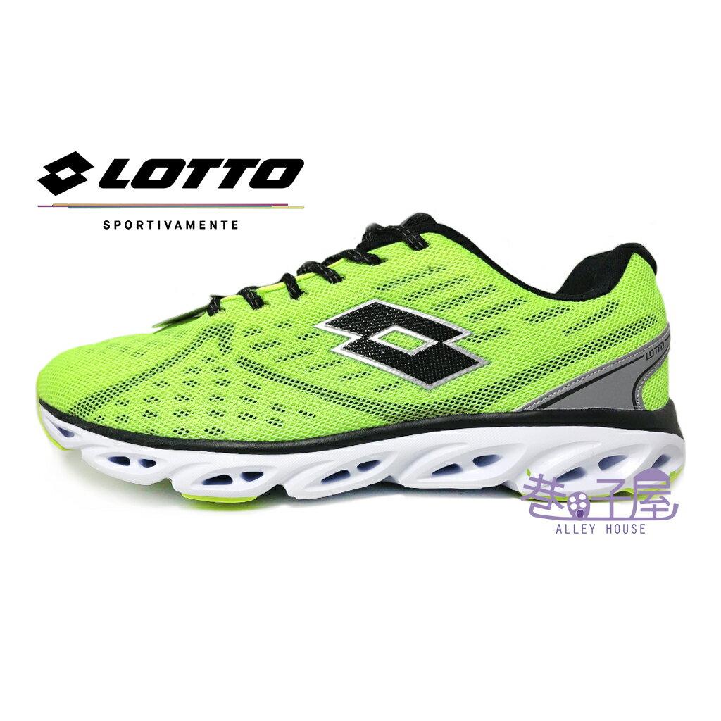 【巷子屋】義大利第一品牌-LOTTO樂得 男款4D網布超輕量氣動跑鞋 [3704] 螢光黃 超值價$690