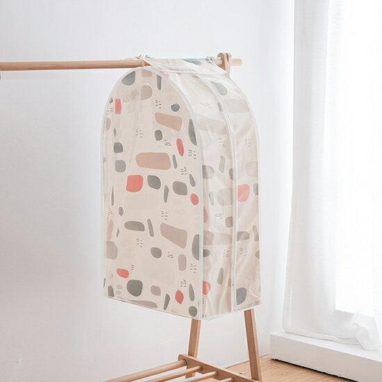 ♚MY COLOR♚ 立體印花衣服掛式防塵罩 S號  居家 方便 清新 西服 防塵套子 保