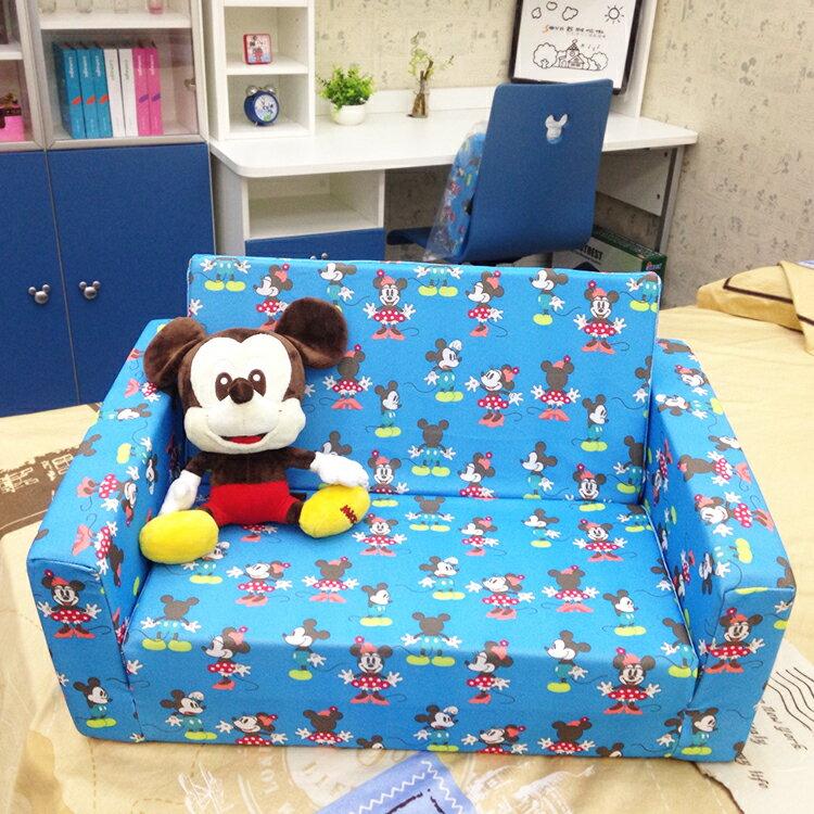 [首雅傢俬] 迪士尼 小 沙發床 買一送一 兒童椅 兒童沙發 兒童家具 兒童床 多功能 沙發 寵物床 (粉藍 粉紅)