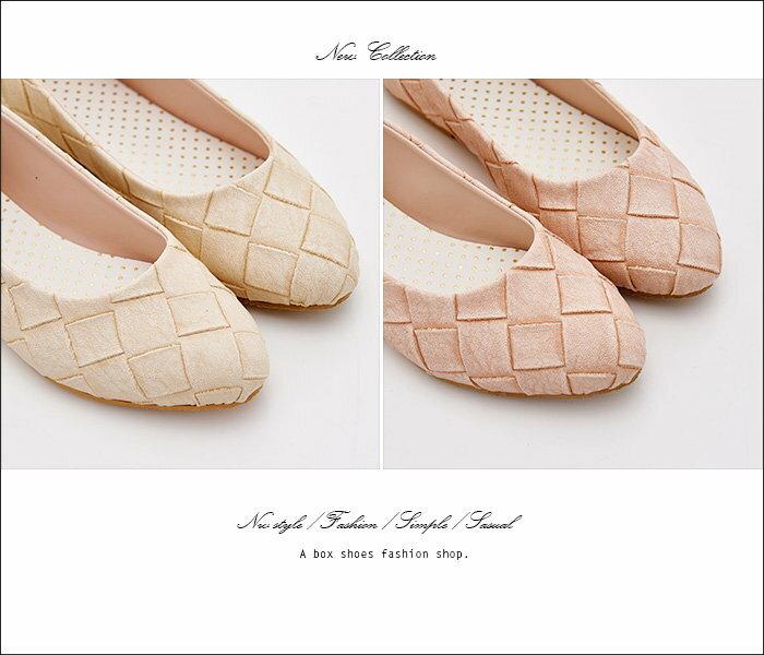 格子舖*【AW700】*限時免運* MIT台灣製 仿蛇皮紋皮革 1CM低粗跟圓頭包鞋 娃娃鞋 5色 2