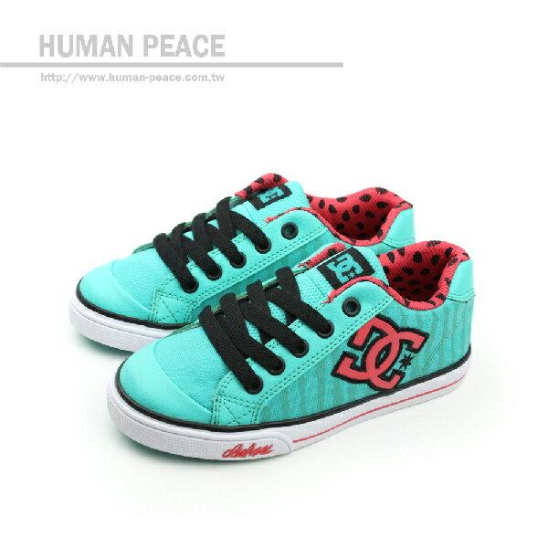 DC CHELSEA GRAFFIK 休閒鞋 藍綠 中童 no021