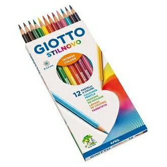 永昌文具用品有限公司 【義大利 GIOTTO】256500  STILNOVO 學用六角彩色鉛筆 12色/ 盒