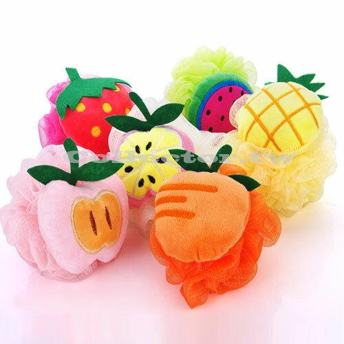 【E16060301】可愛水果造型彩色掛繩沐浴球 加厚沐浴球 起泡沐浴球