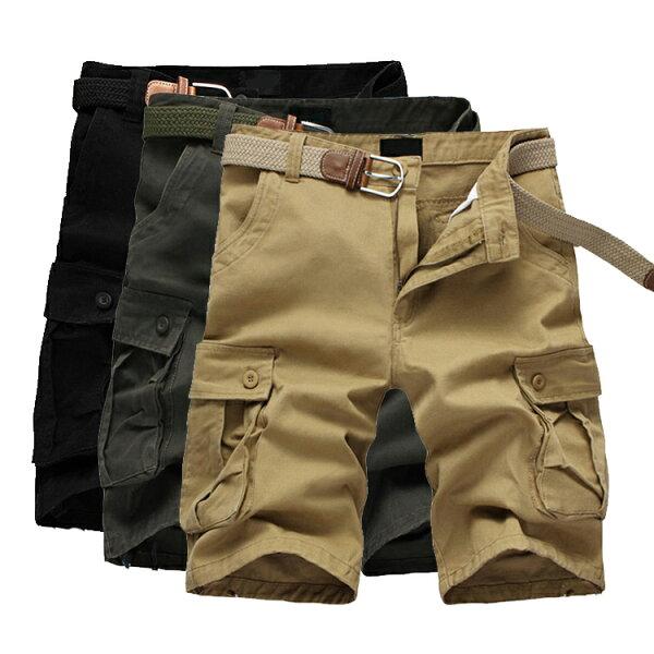 【$399專區任搭2件$699】經典潮流素色口袋造型百搭休閒短褲