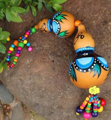 【天然大葫蘆風鈴掛飾-直徑10CM-1個/組】天然大葫蘆風鈴掛飾家居裝飾品擺件工藝品-35011