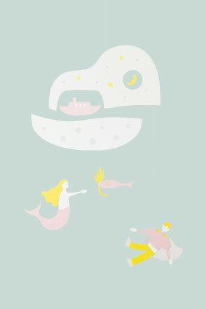 人魚吊飾 Manu Mobiles モビール 人魚姬-4589737510267