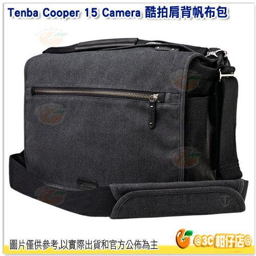 TenbaCooper15酷拍肩背帆布包637-404灰公司貨15吋筆電相機包側背包