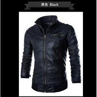 飛行外套推薦到韓版立領皮衣外套 皮外套 男生皮衣 騎士皮衣 皮衣外套 飛行外套 【MJ02】就在OFAT小鋪推薦飛行外套