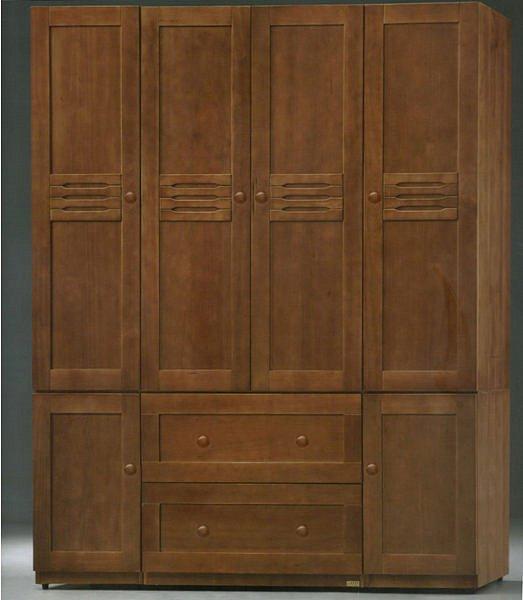 【尚品傢俱】300-01 可可羅橡木全實木6尺衣櫃/ 收納櫃/ 置物櫃(另有4.5尺)