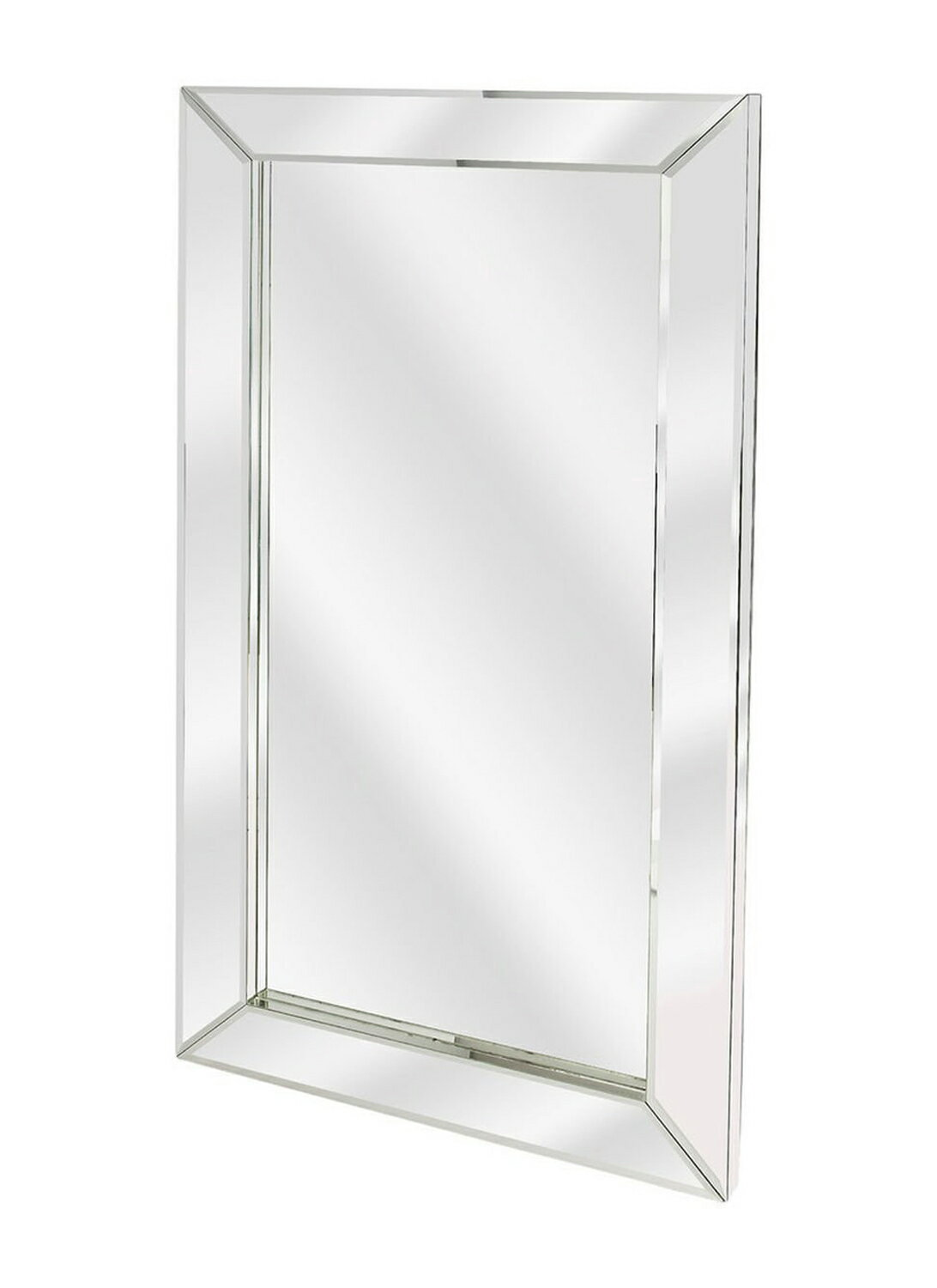 Offex Modern Rectangular Emerson Mirrored Wall Mirror Clear