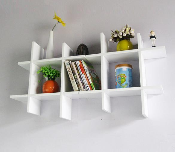Wooden Shelf Rack Wall Display Storage 4 Sets 2 Colors 3