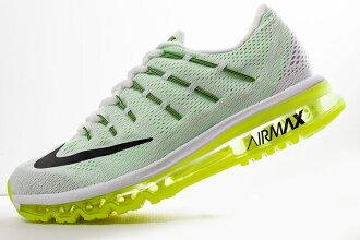 Nike Air Max 2016 氣墊跑鞋 白綠黑 男鞋