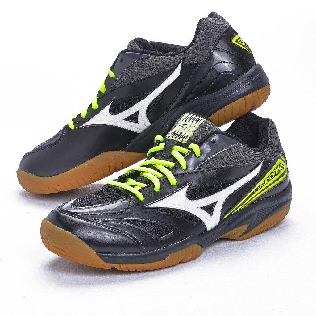 【Mizuno美津濃】男款羽球鞋 GATE SKY-黑黃色(71GA174005)