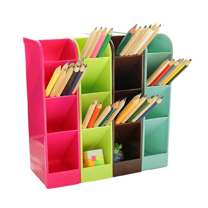 長型四格多功能收納盒 手機收納盒 文具收納盒 文具盒置物盒 抽屜收納箱 化妝品收納櫃
