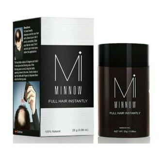 【MINNOW】美國 增髮纖維假髮 黑色 25g 長黑髮 生髮 稀髮 禿頭 髮粉 髮量濃密