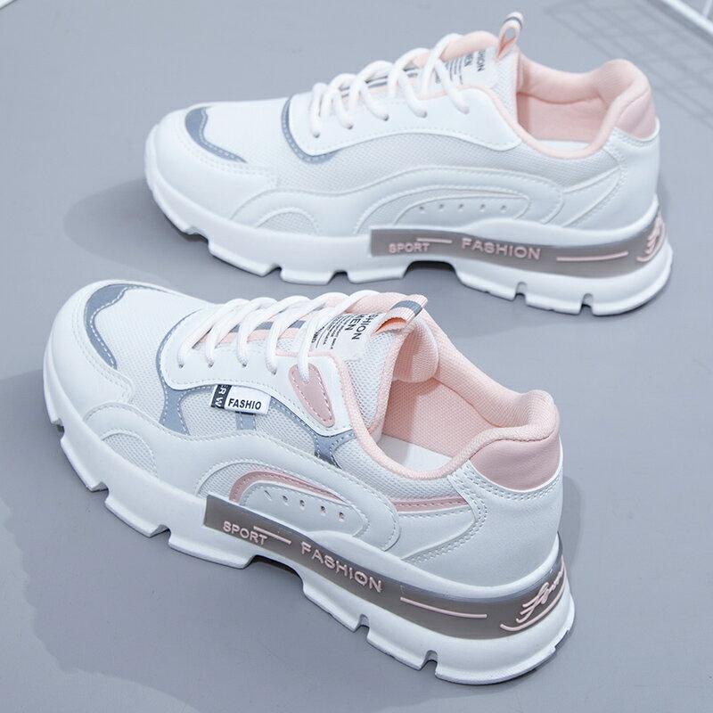 小白鞋女 老爹鞋女ins潮2021年春季新款春百搭透氣夏季休閒運動小白女鞋