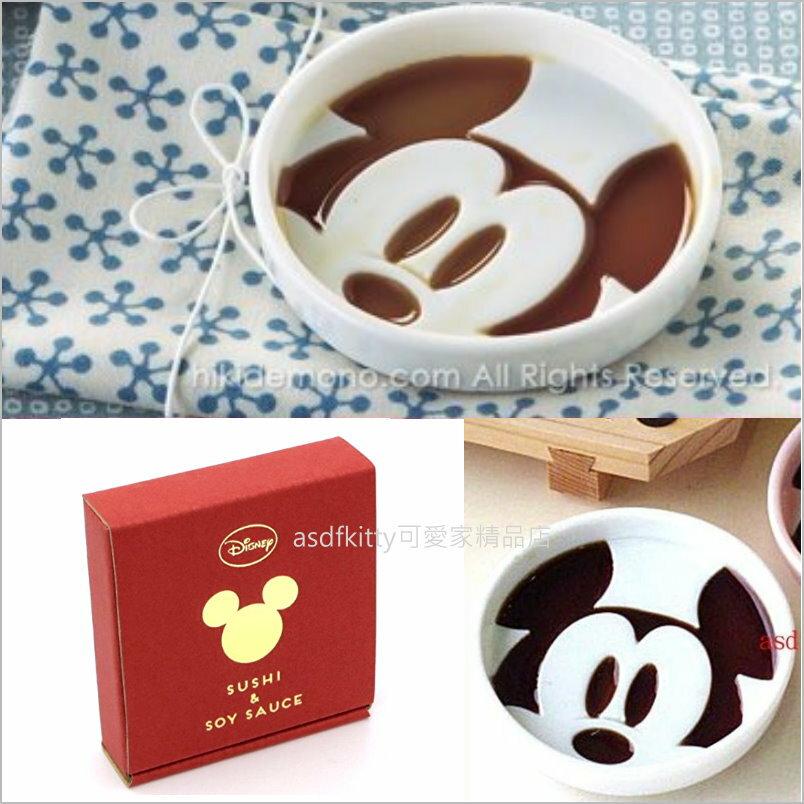 asdfkitty可愛家☆迪士尼米奇白色陶瓷醬料碟/醬油碟--也可當茶包盤.湯匙架-日本製