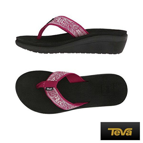 【TEVA促銷9折│全店免運】TEVA(女)織帶夾腳拖鞋莓果紫紅-TV1019043EBYS