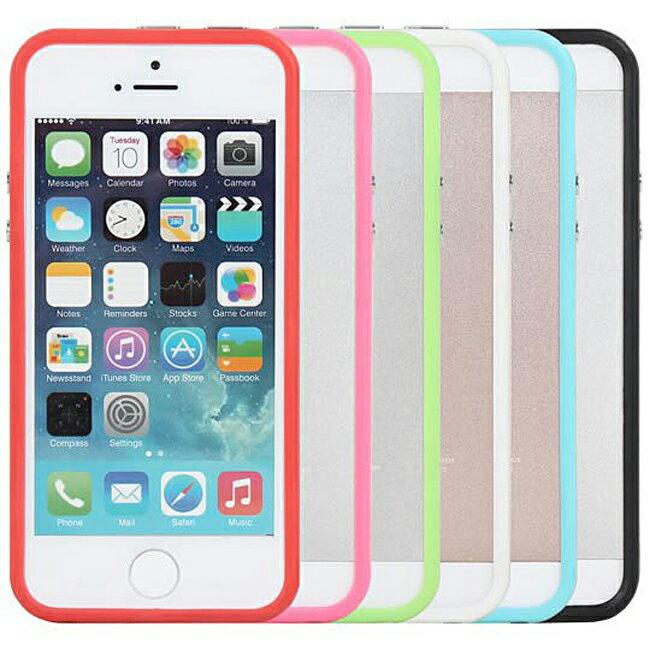 Ultimate- iPhone SE / 5/ 5S 俏麗亮彩雙色手機外殼抗震防摔果凍套保護殼邊框 保護套 軟殼 保護殼 手機殼
