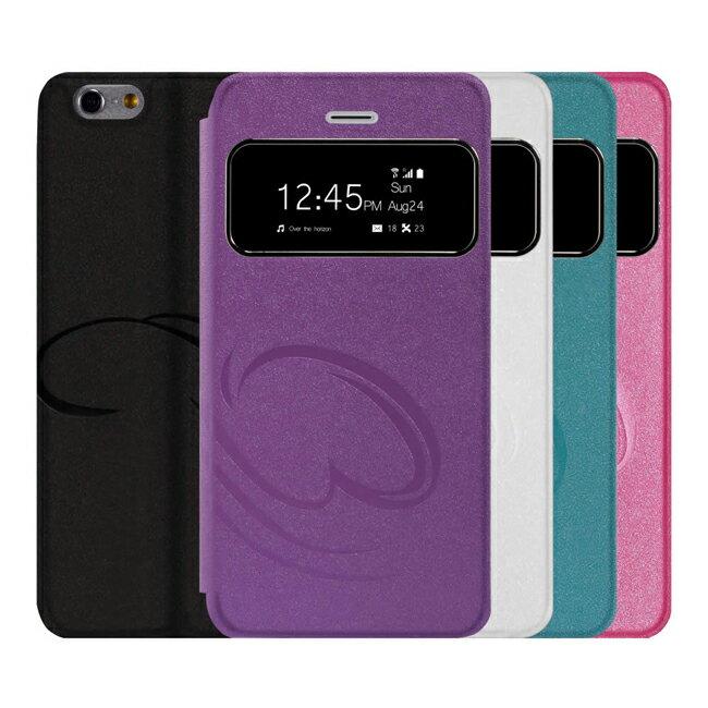 "Ultimate- iPhone 6 Plus (5.5"") 金砂美印來電顯示可立式皮套 智慧透視 保護套 手機皮套保護殼 軟殼"