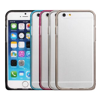 iPhone 6 簡約圓弧海馬扣雙料保護邊框 超薄圓弧雙層邊框 金屬鋁框+TPU軟殼