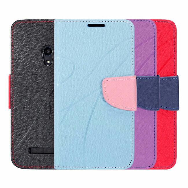 Ultimate- ASUS Zenfone6 新潮美紋撞色可立式皮套 手機支架皮套 可立式保護套 卡片收納手機包