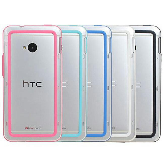 Ultimate- HTC NEW ONE (M7) 俏麗亮彩雙色保護手機邊框 抗震防摔果凍套保護殼邊框 邊框套 保護殼