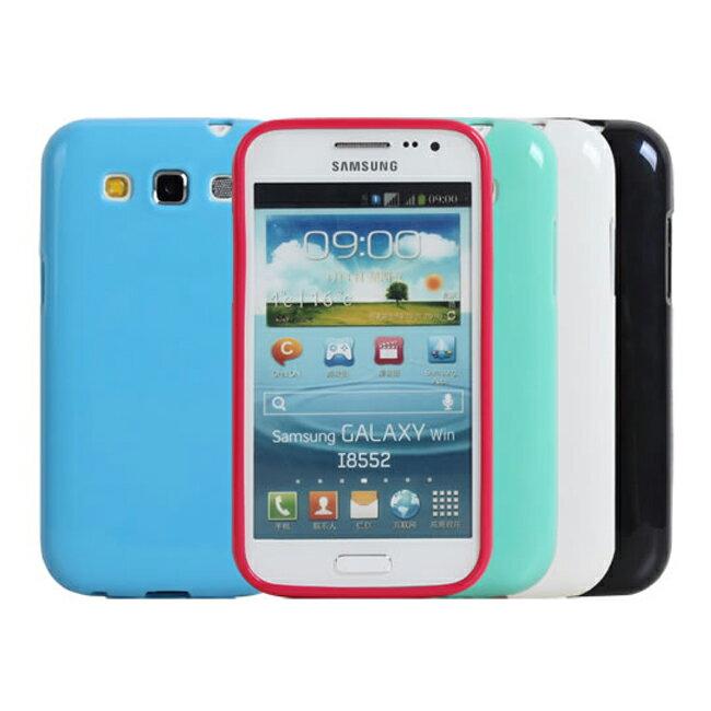 Ultimate- Samsung Win(i8552)亮麗全彩軟質星手機防摔果凍套背蓋 保護套 軟殼 保護殼 手機殼