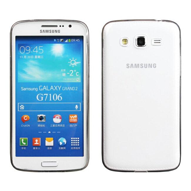 Ultimate- Samsung GRAND2 (G7102) 超薄全透點紋軟質手機外殼防摔後保護套 保護殼 手機殼 Grand 2 Grand2