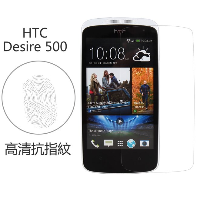 Ultimate- HTC Desire 500 高清抗指紋防疏油汙灰塵手機螢幕超薄保護貼膜 手機膜