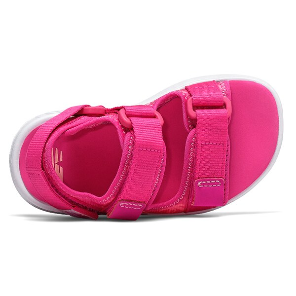 Shoestw【IH750PP】NEW BALANCE NB750 涼鞋 涼拖鞋 運動涼鞋 童鞋 小童鞋 黏帶 椰子樹 桃紅 3