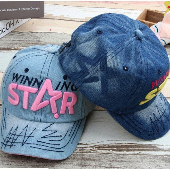 糖衣子輕鬆購【DZ0072】韓版時尚牛仔太陽遮陽帽牛舌帽棒球帽