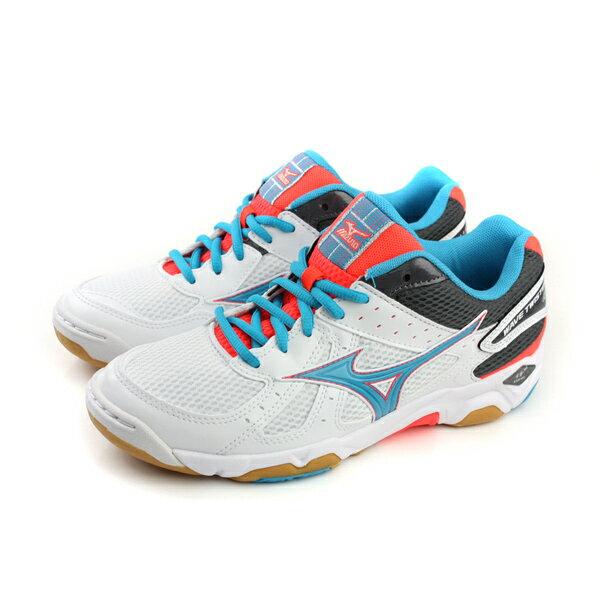 美津濃 Mizuno WAVE RIDER 4 排球鞋 白藍色 女鞋 no032