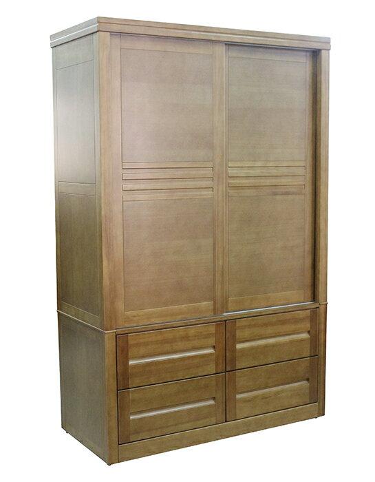 【尚品傢俱】790-16 高級香檜全實木4.4X7尺衣櫥/衣櫃/收納衣櫃