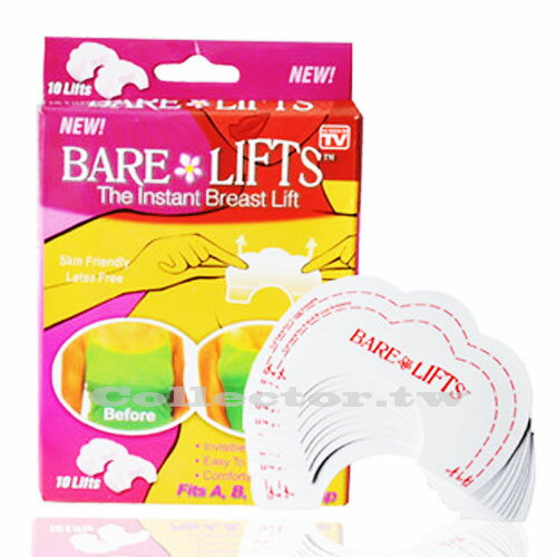 【J16012201】BARE LIFTS 魔術提胸貼 1包10入 美胸貼 美胸神器