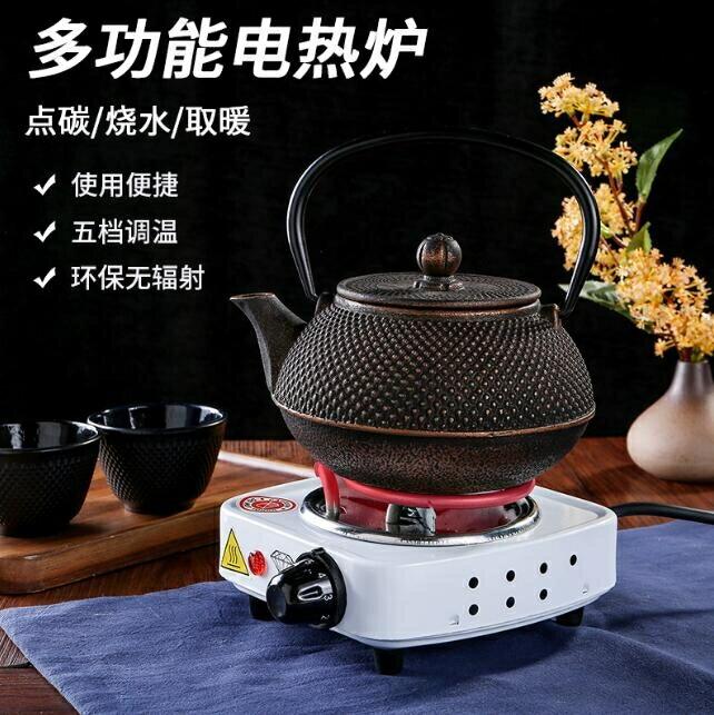 台灣現貨 110V煎藥爐烤爐點炭爐燒炭爐電熱爐煮茶咖啡爐發熱管可調溫取暖烤火爐【免運】
