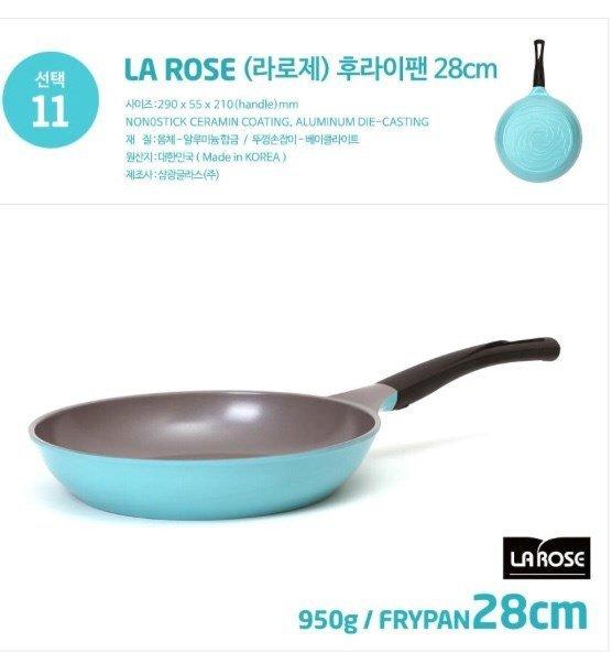 【韓國Chef Topf】 玫瑰鍋/薔薇鍋LA ROSE系列28公分不沾平底鍋FP-28