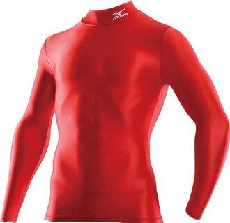 [陽光樂活] MIZUNO 美津濃 BIO GEAR 緊身衣 長袖 黑 A60BS-35062 紅