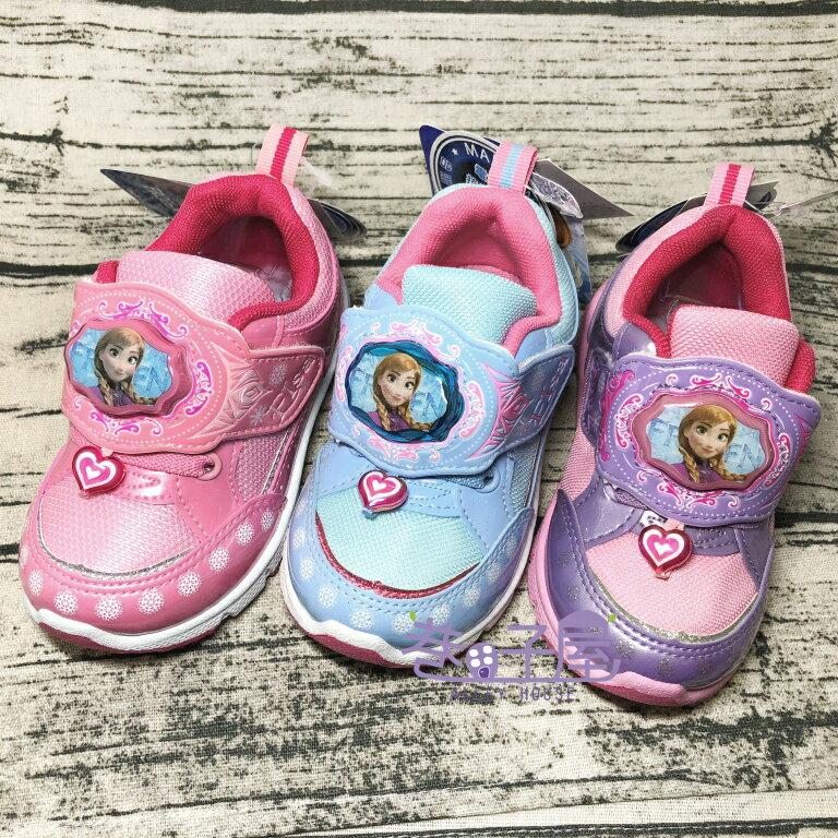 【限量出清】迪士尼 冰雪奇緣 女童愛心吊飾電燈運動休閒鞋 [64303 64306 64307] 三色 MIT台灣製造 超值價$198