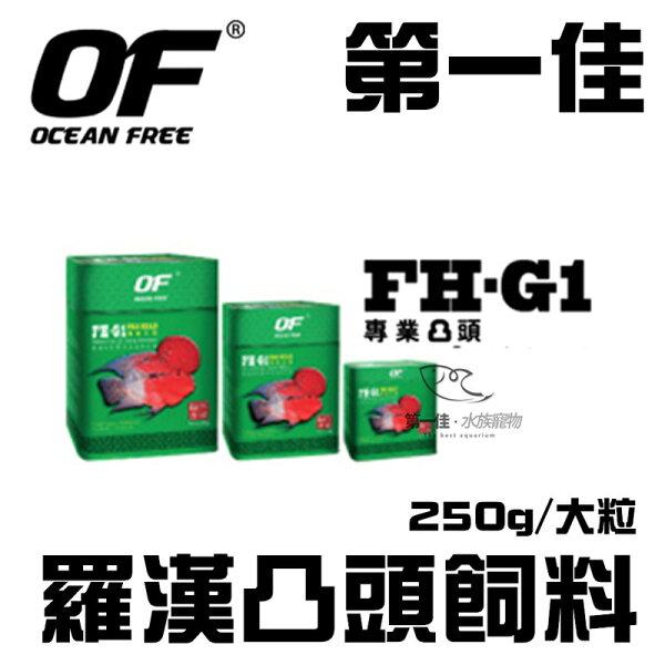 [第一佳水族寵物]新加坡OCEANFREE羅漢凸頭飼料250g大粒免運