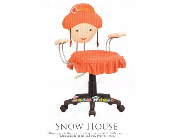 ╭☆雪之屋居家生活館☆╯A257-07小紅帽卡通椅/兒童電腦椅/氣壓升降/椅腳可改成固定輪