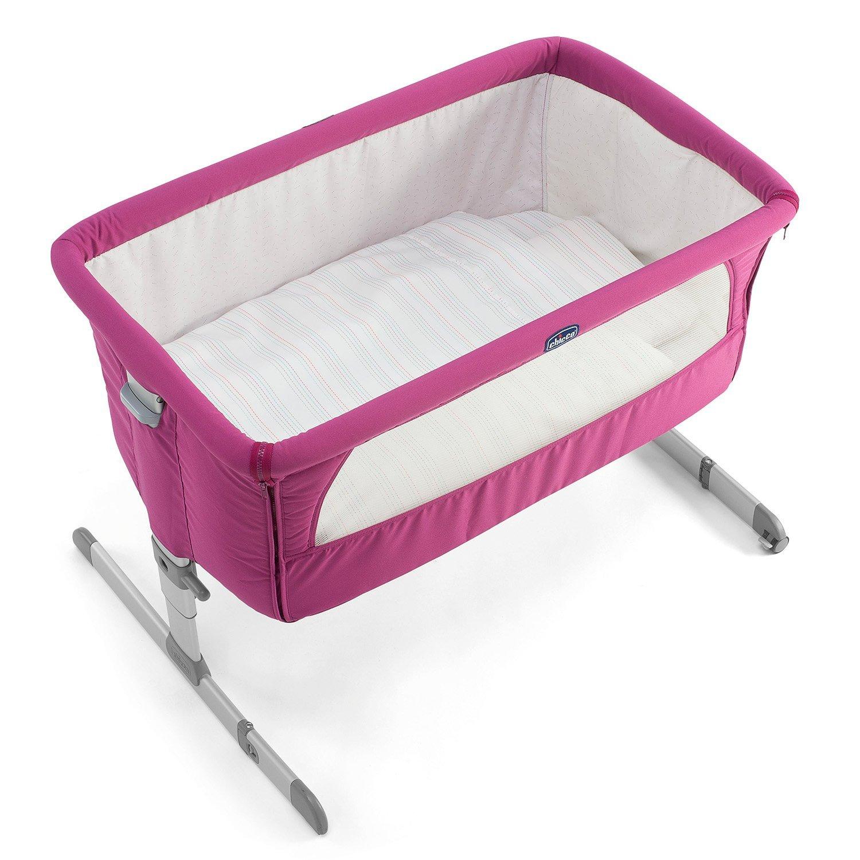 【贈抗菌液60ml+玩偶(隨機)】義大利【Chicco】Next 2 Me多功能移動舒適嬰兒床(紫紅色) 4
