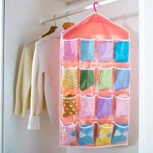 【瞎買天堂x買一送一】衣櫃收納掛袋 16小格 分類清楚 可放內衣褲 襪子 小物等【BGAA0305】